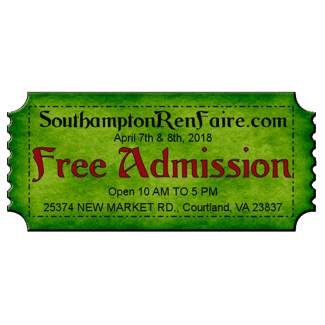 2018 SouthamptonRenFaire.com April 8th & 9th from 10AM to 5PM